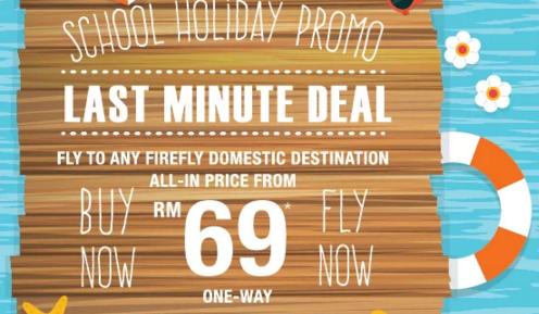 Promo Firefly Last Minute Deal till 06 Dec 2015