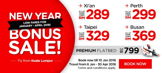 AirAsia Malaysia 4 Januari 2016