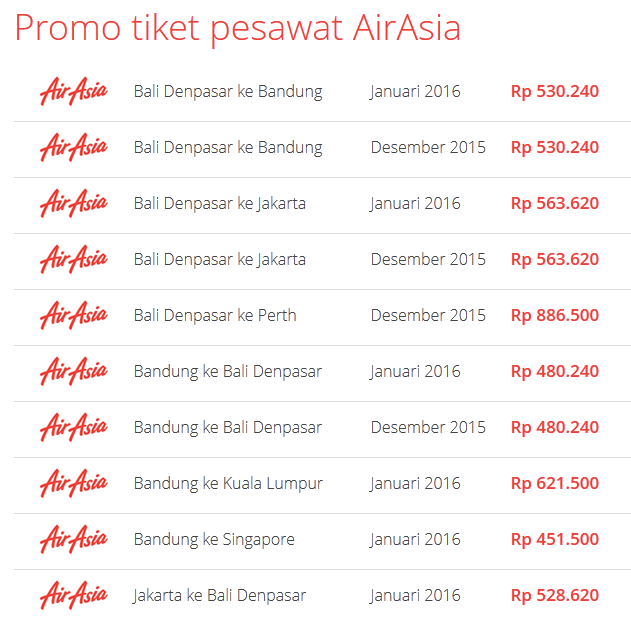 AirAsia promo on Airpaz