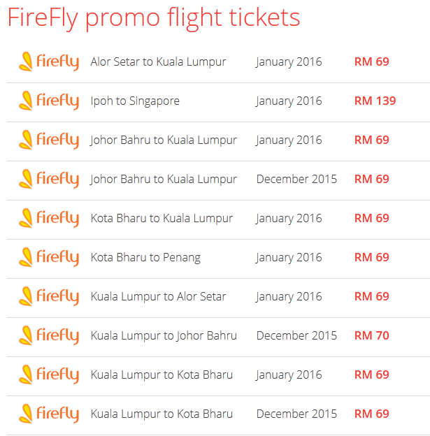 Firefly promo on Airpaz 2 Dec