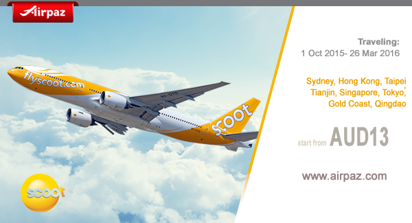 Travel Deals with Scoot on December 2015