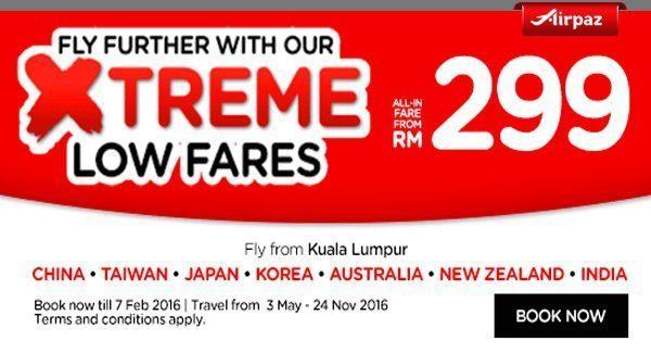 AirAsia Malaysia Januari 2016 Airpaz