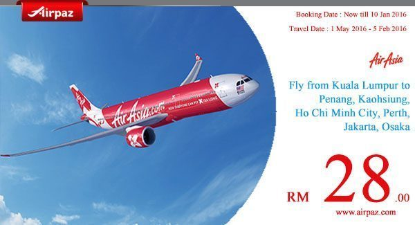 AirAsia no monkey business promo Airpaz