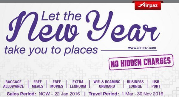Airpaz Malindo Air New Year Promotion