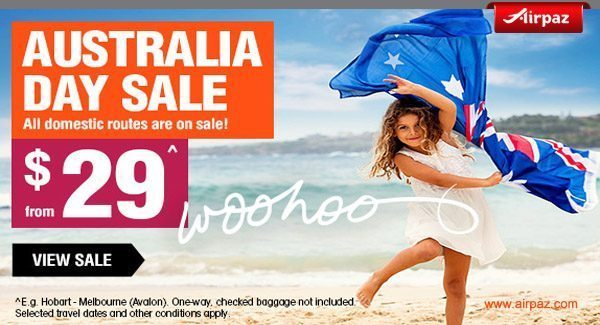 Jetstar Australia Day Sale Airpaz