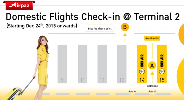 Nokair Counter Check in at Don Mueang International Airport