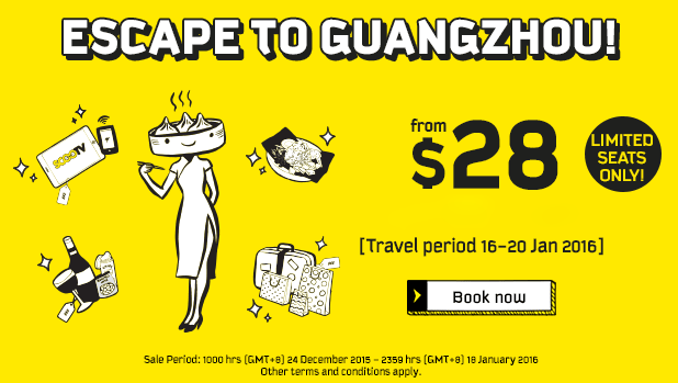 Scoot Escape to Guangzhou promo 12 January 2016
