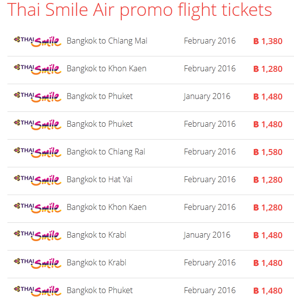 Thai Smile Promo 20 Januari 2016 Airpaz