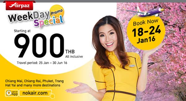 Weekday Special Promo Nokair 18 - 24 Januari 2016