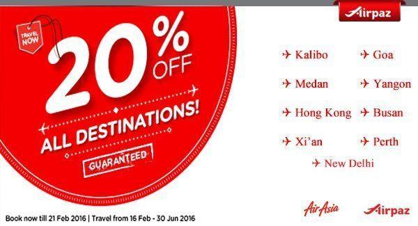 AirAsia Malaysia 16 February 2016 Airpaz