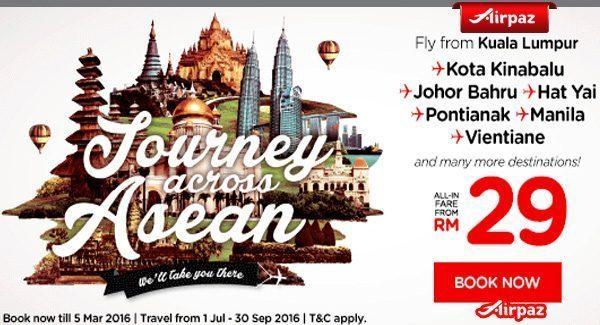 AirAsia Malaysia 29 February Promo Airpaz