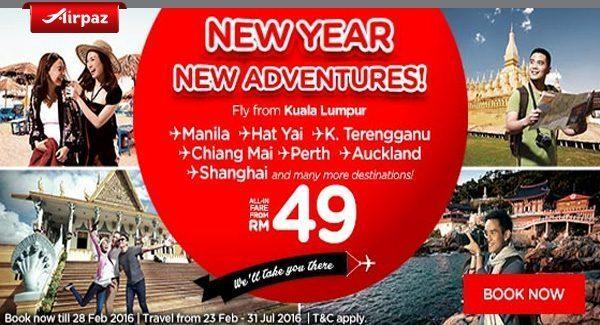 Airasia Malaysia 22 February 2016 Airpaz