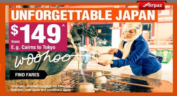 Jetstar Australia Unfogettable Japan promotion Airpaz