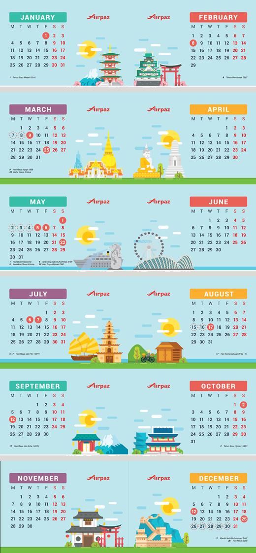 Kalender Libur Cuti 2016 Airpaz