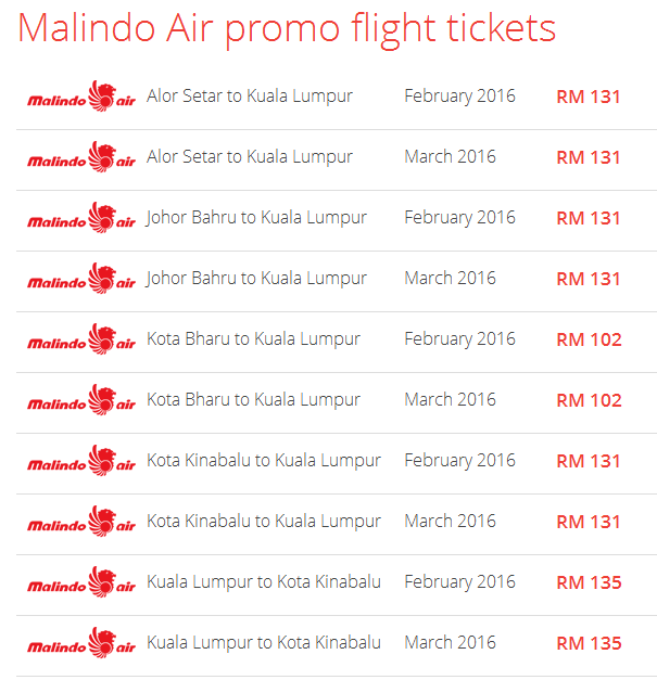Malindo Air on Airpaz promotionm