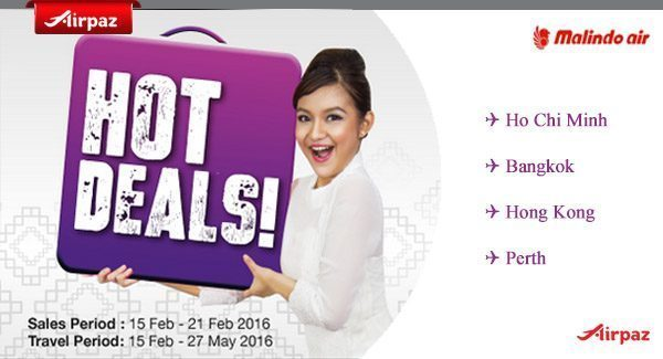 Malindo Airpaz Hot Deals 15 February 2016