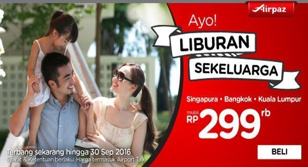 AirAsia Indonesia 14 March 2016 Airpaz Promo