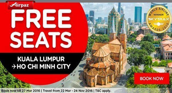 AirAsia Malaysia Free Seat Airpaz Promo
