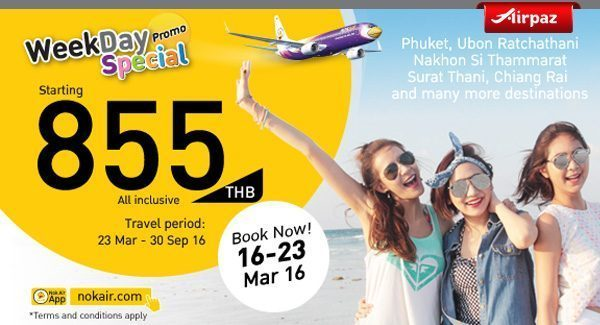 Nok Air 16 March 2016 Airpaz Promo