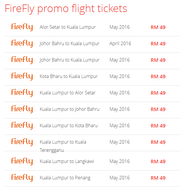 Firefly promotion on Airpaz