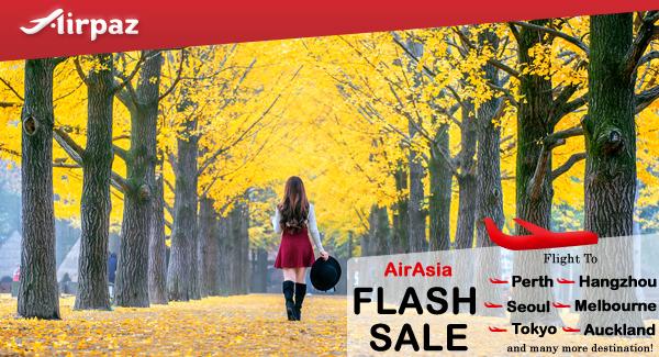 AirAsia Flash Sale on Airpaz Malaysia.