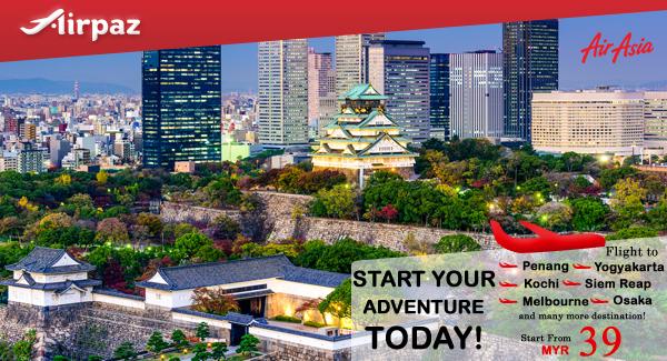 AirAsia Malaysia Start your Adventure Promo Airpaz