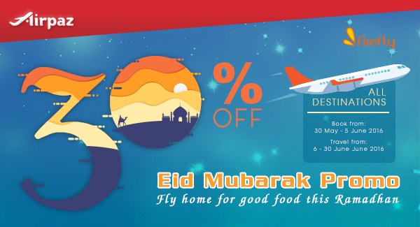 Eid Mubarak Promo on Airpaz