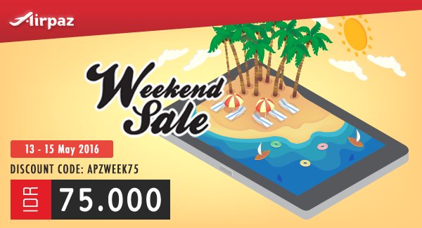 Promo Weekend Sale Discount 13 - 15April 2016