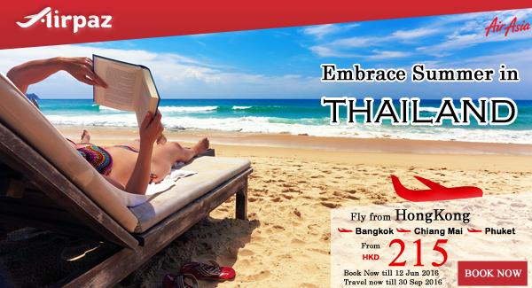 AirAsia Hong Kong Embrace Summer in Thailand.