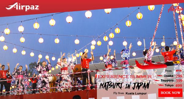 AirAsia Malaysia Japan Matsuri Airpaz promo.