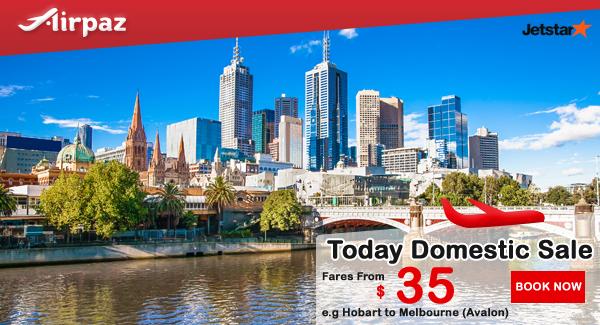 Jetstar Australia Domestic promo.