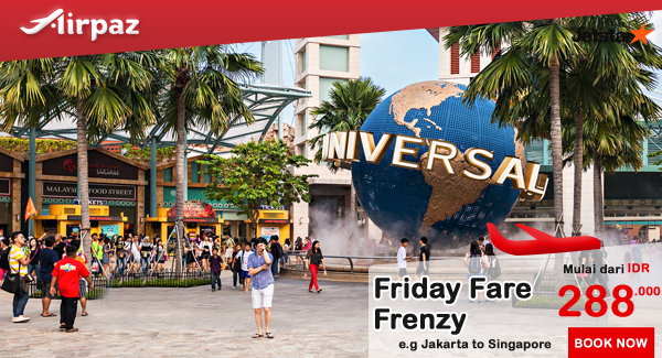 Jetstar Indonesia Friday Fare Frenzy 24 Juni 2016.