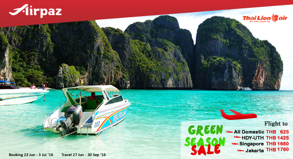 Thai Lion Air Green Season Sale on Airpaz.