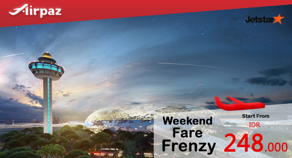 Jetstar Weekend Fare Frenzy Airpaz Promotion