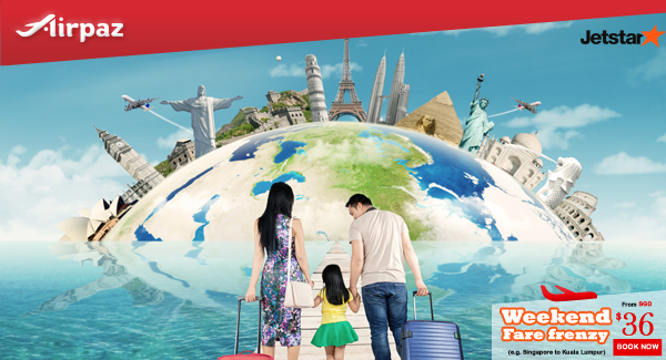 Jetstar Weekend Fare Frenzy Singapore Airpaz Promo.