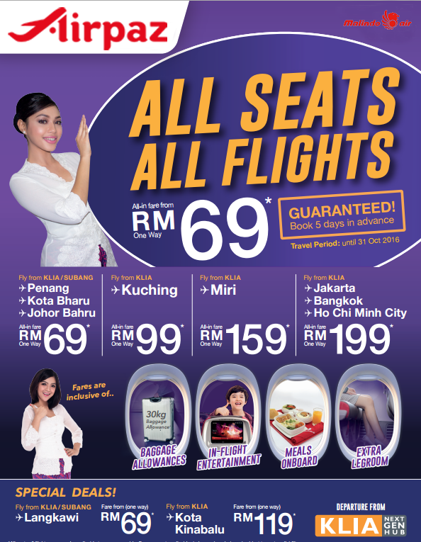 Malindo Air Promotion RM69 Airpaz