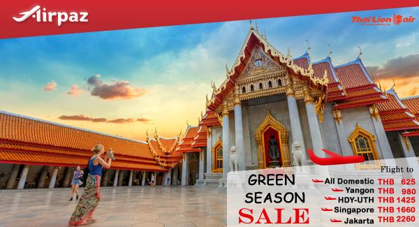 Thai Lion Air Green Season Sale Promo on Airpaz.
