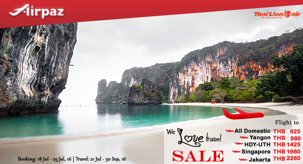 Thai Lion Air We love travel Sale on Airpaz.