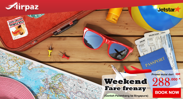 Jetstar Weekend Fare Frenzy di Airpaz