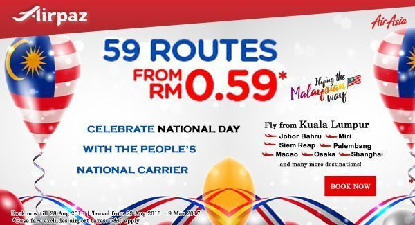 AirAsia Malaysia National Day Promotion Airpaz