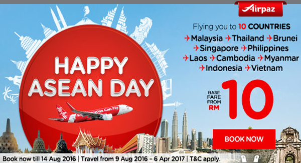 Airpaz Malaysia Happy Asean Day Airpaz Promo.