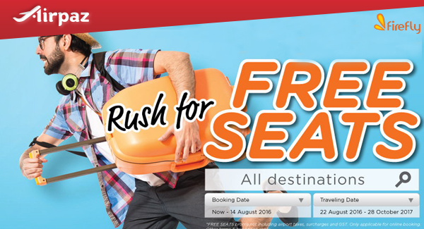 Firefly Free Seat Promotion.