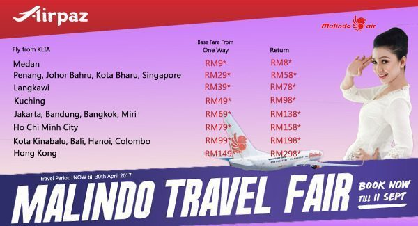 Malindo Travel Fair Promotion on Airpaz