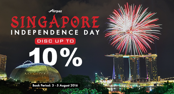 Singapore Independence Sale on Airpaz