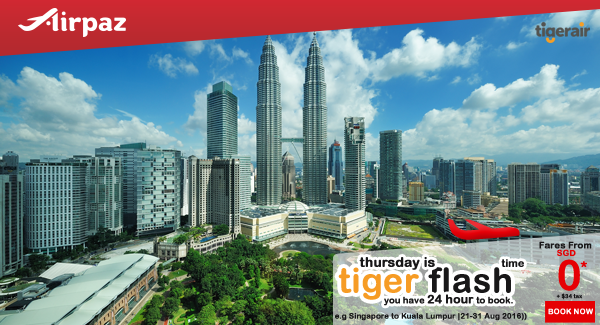 Tiger Flash Promotion on Airpaz 11 Agustus 2016.