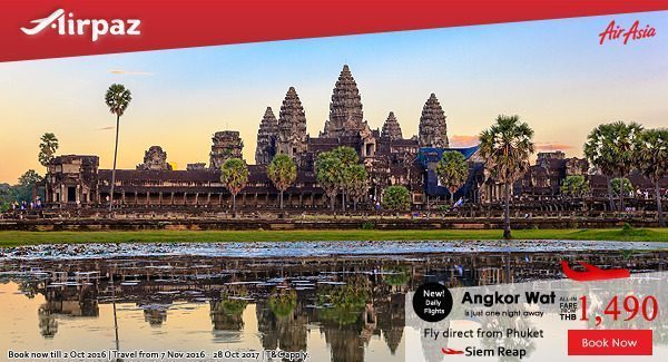 AirAsia Thailand New Route on Airpaz Promo