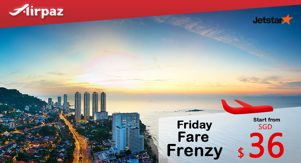 Jetstar Friday Fare Frenzy 2 September 2016
