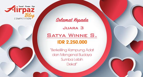 Pengumuman Pemenang Lomba Menulis Blog Aku Cinta Indonesia Bersama Airpaz 2