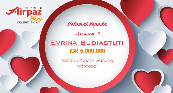 Pengumuman Pemenang Lomba Menulis Blog Aku Cinta Indonesia Bersama Airpaz