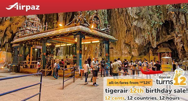 Tiger Air 12 Birthday Sale on Airpaz